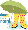 Dance Rain vector image vector image
