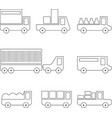 different types transport for logistics vector image vector image
