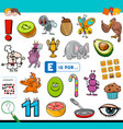 e is for educational task for children vector image vector image