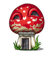 fairy house in shape a fly agaric isolated vector image vector image