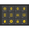 Finger scanner icons vector image vector image