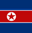 flag north korea color symbol isolated vector image