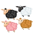 Four spotted cartoon sheep animals vector image vector image