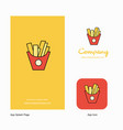 fries company logo app icon and splash page vector image