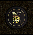 gold and black happy new year design vector image vector image