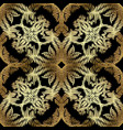gold embroidery baroque seamless pattern vector image vector image