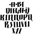 grunge old pen gothic font blackletter script vector image