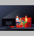 home movie watching vector image vector image