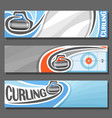 horizontal banners for curling vector image vector image