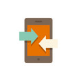 incoming and outcoming calls sign icon vector image