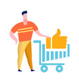 internet shopping abstract flat color vector image