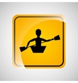 kayaking person sign sport extreme design vector image vector image