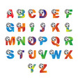 letter alphabet with ball vector image vector image
