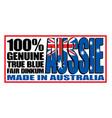 made in australia logo sticker vector image vector image