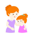 mother soothes crying daughter xa vector image vector image