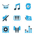 music colored icons set collection of speaker vector image vector image
