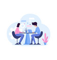 office work helping each others vector image vector image