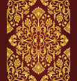 oriental burgundy and golden pattern vector image
