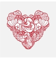 ornamental vintage beautiful heart isolated vector image vector image