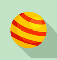 pet ball toy icon flat style vector image vector image