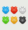 pig set of icon different vector image vector image