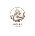 pine cone pattern logo design vector image