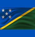 realistic waving flag solomon islands vector image vector image