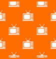 retro tv pattern seamless vector image vector image