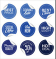 sale price blue tag collection vector image vector image