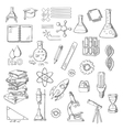 Science and education sketch symbols vector image vector image