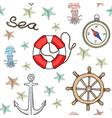 seamless nautical pattern vector image