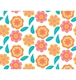 Seamless spring flower pattern on white background vector image vector image
