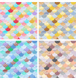 set abstract seamless patterns set japanese vector image