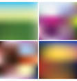 Set of blurred backgrounds vector image vector image