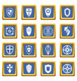 shields set icons set blue vector image vector image