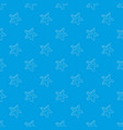starfish pattern seamless blue vector image