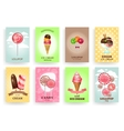Sweets lollipops and ice creams Brochures vector image vector image