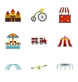 Swing icons set flat style vector image vector image