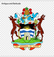 symbol of antigua and barbuda vector image vector image