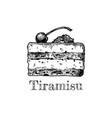 Tiramisu vector image
