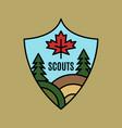 vintage scouts logo emblem template adventure vector image vector image