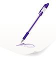 violet ballpoint pen vector image vector image