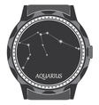 watch dial with the zodiac sign aquarius