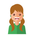 young woman happy avatar character vector image