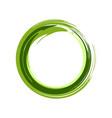 zen symbol abstract green ink brush vector image
