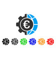 euro global industry icon vector image