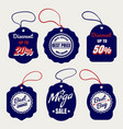sale and discount price labels vector image
