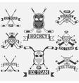 hockey sport club vintage labels set vector image