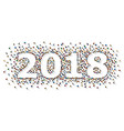 a crowd of people in the form of year 2018 vector image