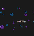abstract background with dark violet and blue vector image vector image